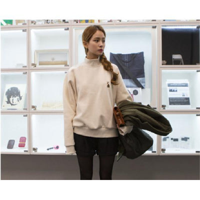 Kawaii Rabbit Embroidery Spring Sweatshirt [2 Colors] #JU2180-Juku Store
