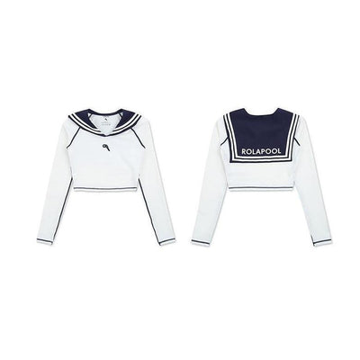 Kawaii Sailor Rashguard Two Piece Swimsuit #JU2777-Juku Store