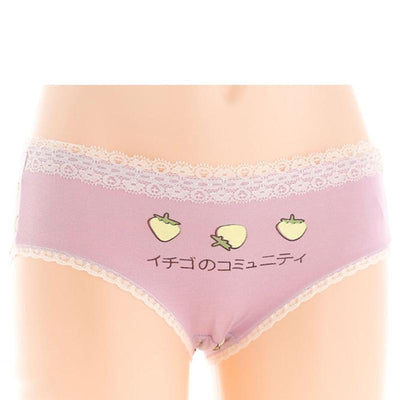 Kawaii Strawberry Pastel Underwear [8 Colors] #JU2277-Juku Store