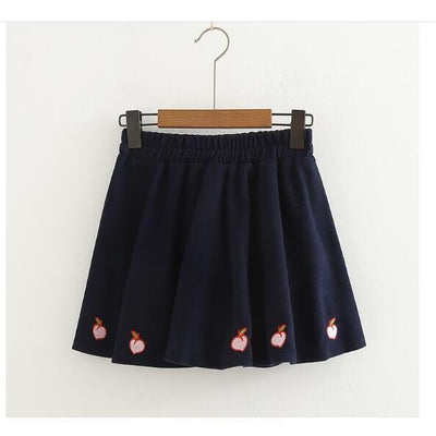 Kawaii Sweet Peach Skirt Pastel Harajuku [3 Colors] #JU2166-Black-One Size-Juku Store