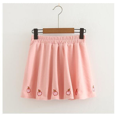 Kawaii Sweet Peach Skirt Pastel Harajuku [3 Colors] #JU2166-Pink-One Size-Juku Store