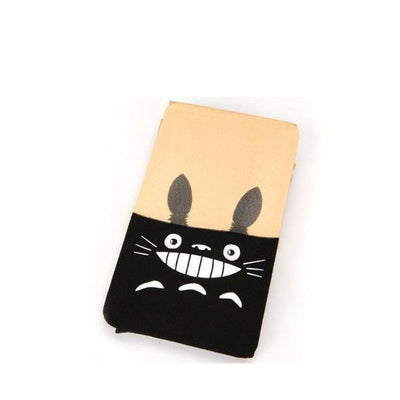 Kawaii Totoro Knee High Pantyhose Black #JU2164-Juku Store
