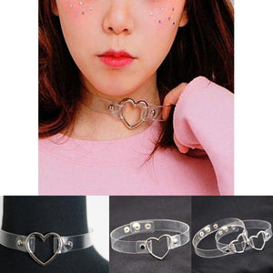 Kawaii Transparent Metal Choker Necklace [2 Styles] #JU2161-Juku Store