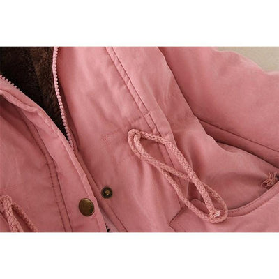 Kawaii Winter Coat Fur Parka [15 Colors] #JU2250-Juku Store