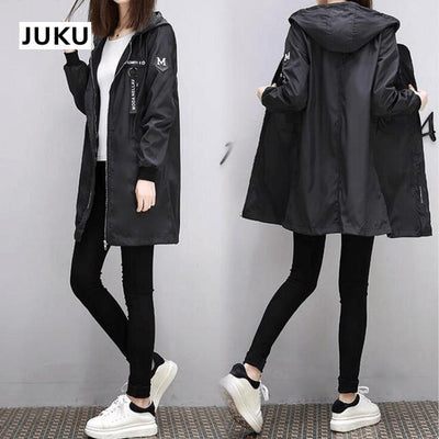 Korean Baseball Windbreaker Cute Kpop Outerwear #JU2897-Black-XXL-Juku Store