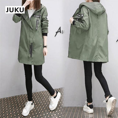 Korean Baseball Windbreaker Cute Kpop Outerwear #JU2897-Green-L-Juku Store