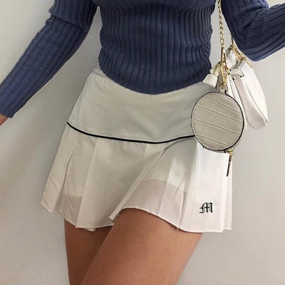 Korean Fashion High Waist Casual Mini Skirt #JU2981-Juku Store