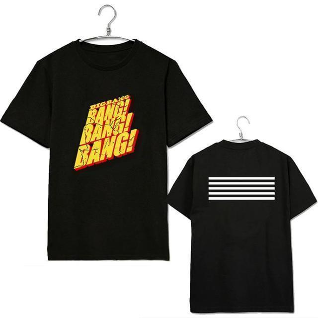 KPOP Bigbang Ongseong Gd Short Sleeve T-Shirt [2 Colors] #JU2231-Black-XXL-Juku Store