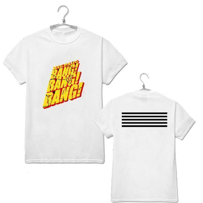 KPOP Bigbang Ongseong Gd Short Sleeve T-Shirt [2 Colors] #JU2231-White-XXL-Juku Store
