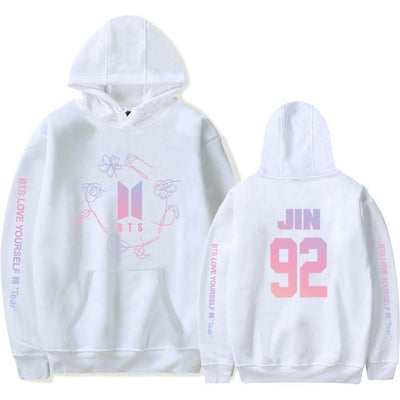 "KPOP BTS Love Yourself ""Tear"" Hoodie [8 Styles] #JU2298-Jin-White-L-Juku Store"