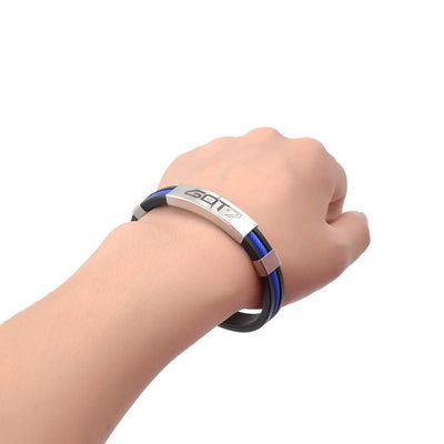 KPOP GOT7 Rubber Clasp Wristband [3 Colors] #JU1997-Juku Store