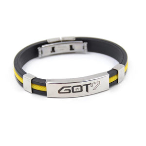 KPOP GOT7 Rubber Clasp Wristband [3 Colors] #JU1997-Yellow-Juku Store