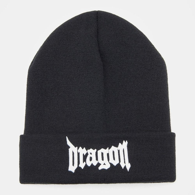 Kpop Hip Hop Dragon Beanie Hat [4 Colors] #JU1841-Black-Juku Store