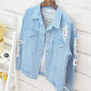 KPOP Where Is My Mind Denim Jacket #JU1919-Juku Store