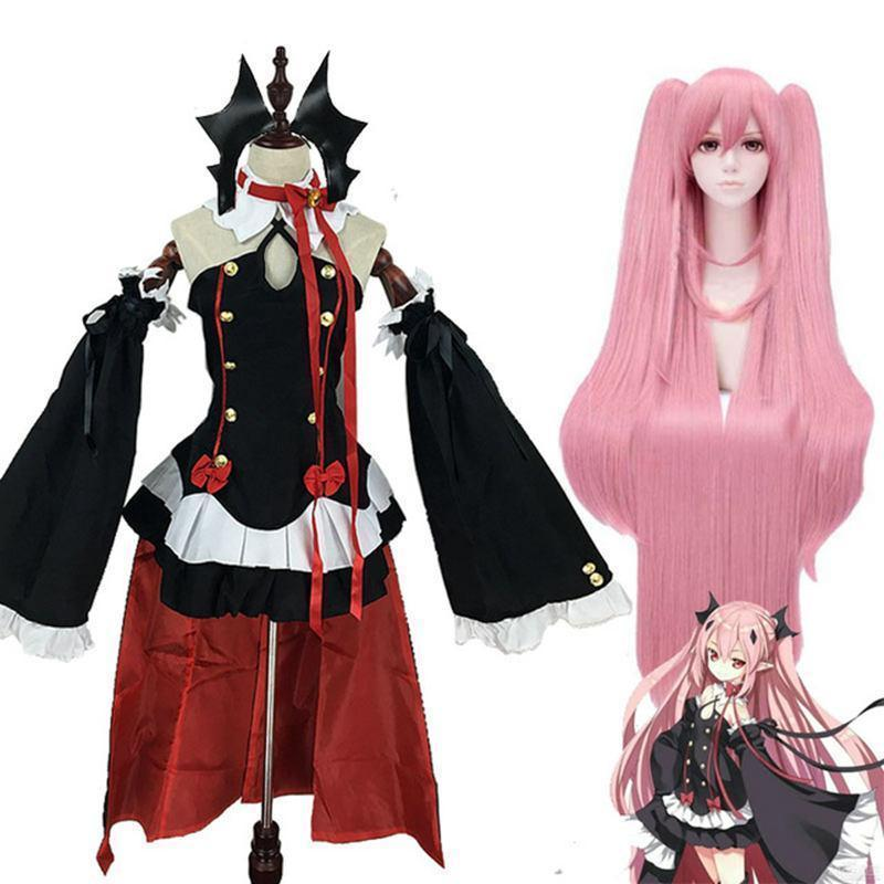 Krul Tepes Cosplay Set Seraph Of The End Full Anime Dress Outfit #JU2430-Juku Store