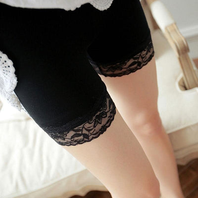 Lace Trim Under Skirt Safety Short [2 Colors] #JU2345-Juku Store