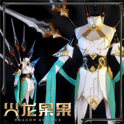 League of Legends Blade Dancer Irelia Cosplay Costume Set #JU2234-S-Juku Store