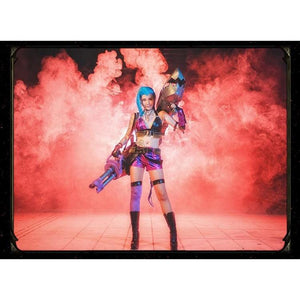 League of Legends Classic Jinx Cosplay Costume Set #JU2264-Juku Store
