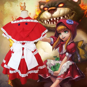 League Of Legends Red Riding Annie Cosplay Costume LoL #JU2109-Juku Store