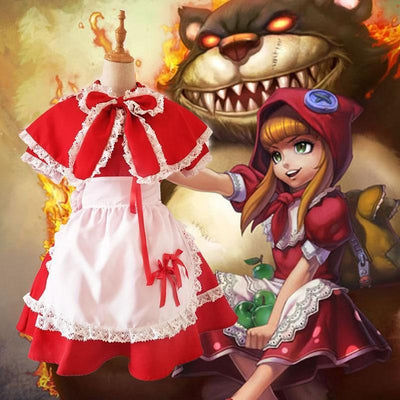 League Of Legends Red Riding Annie Cosplay Costume LoL #JU2109-S-Juku Store