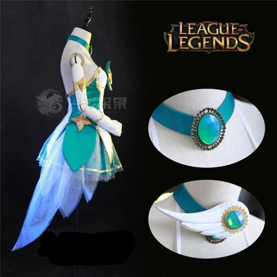 League Of Legends Star Guardian Soraka Cosplay Set #JU2195-Juku Store