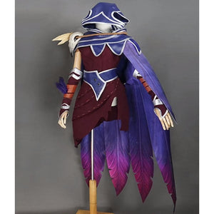 League of Legends The Rebel Xayah and The Charmer Rakan Cosplay Costume Set #JU2236-Xayah-S-Juku Store