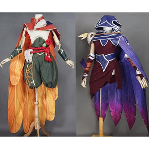 League of Legends The Rebel Xayah and The Charmer Rakan Cosplay Costume Set #JU2236-Juku Store