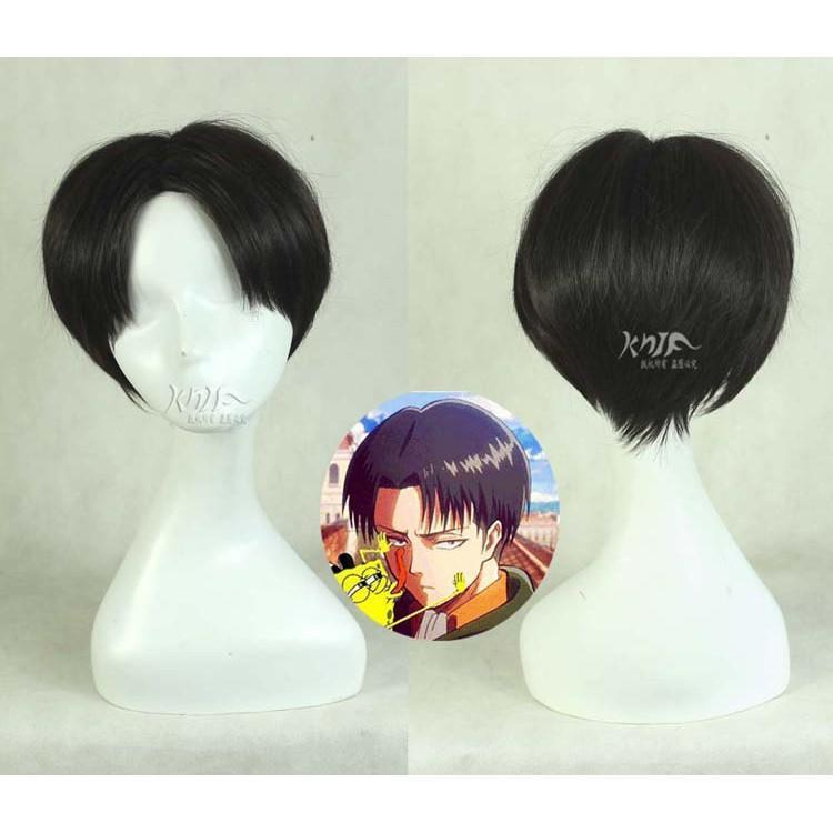 Levi Ackerman Wig Attack on Titan Cosplay #JU2516-Juku Store