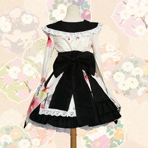 Lolita Kimono Dress Sweet Cherry Blossom [2 Colors] #JU2106-Juku Store