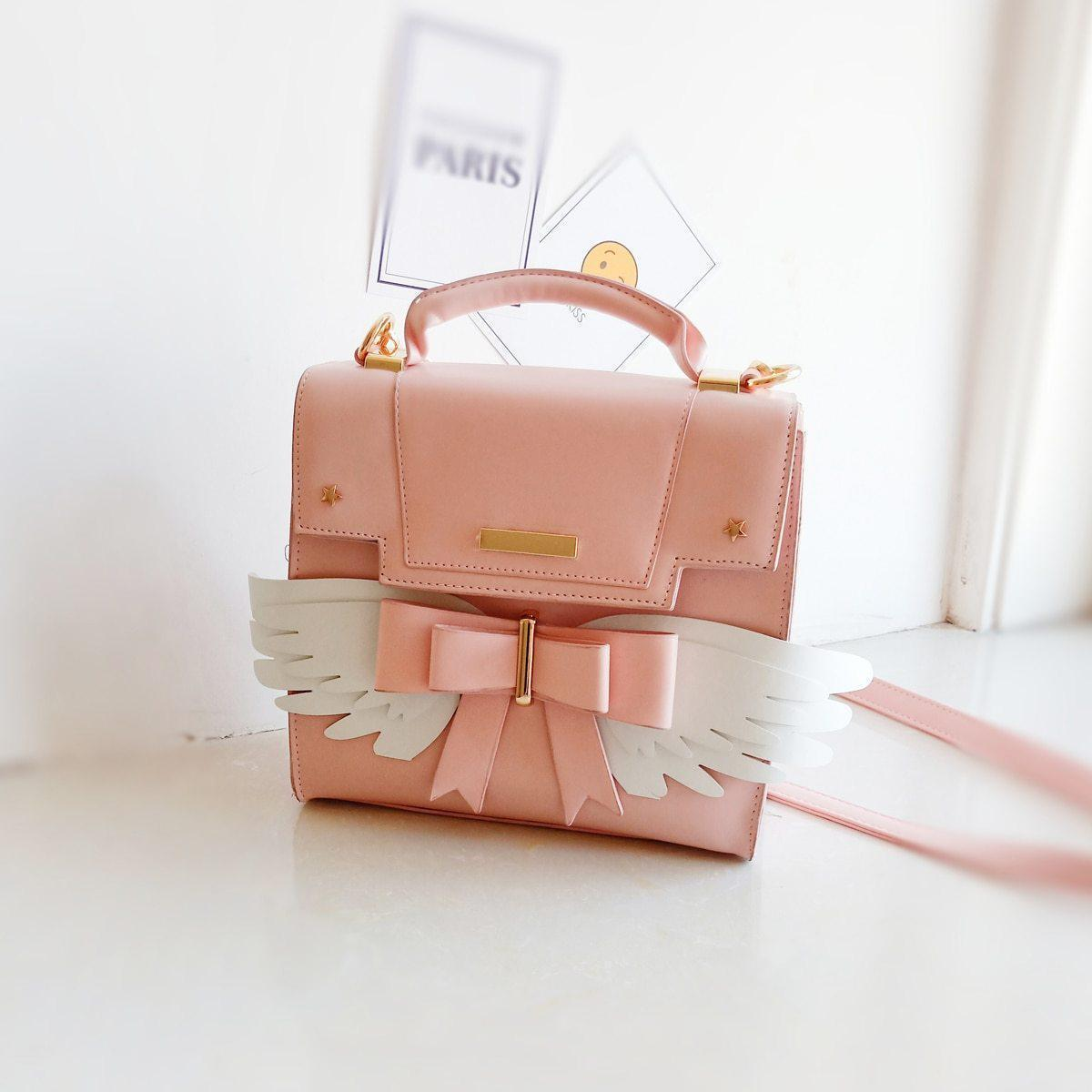 Lolita Wing Bow Shoulder Bag Kawaii Handbag #JU2621-Juku Store