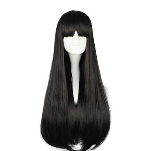Long Black Straight Cosplay Wig [70cm] #JU1813-Juku Store