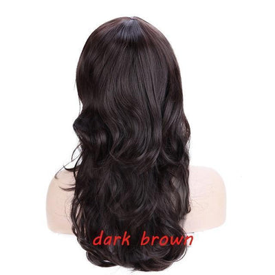 Loose Wavy Synthetic Cosplay Wig 56cm #JU2414-Dark Brown-Juku Store