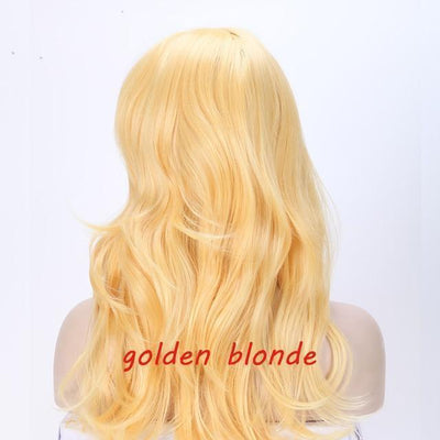 Loose Wavy Synthetic Cosplay Wig 56cm #JU2414-Golden Blonde-Juku Store