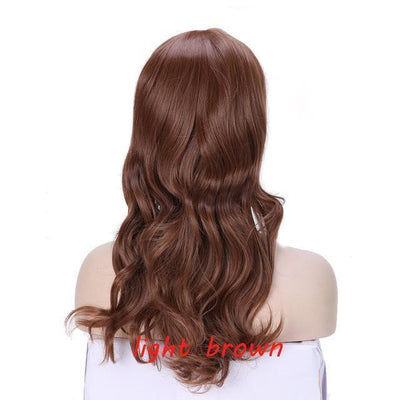 Loose Wavy Synthetic Cosplay Wig 56cm #JU2414-Light Brown-Juku Store