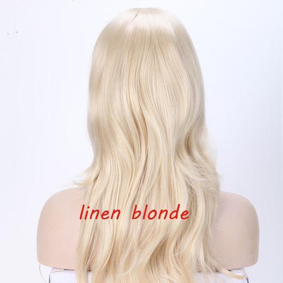 Loose Wavy Synthetic Cosplay Wig 56cm #JU2414-Linen Blonde-Juku Store