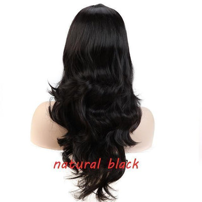 Loose Wavy Synthetic Cosplay Wig 56cm #JU2414-Natural Black-Juku Store