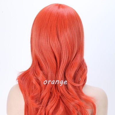 Loose Wavy Synthetic Cosplay Wig 56cm #JU2414-Orange-Juku Store