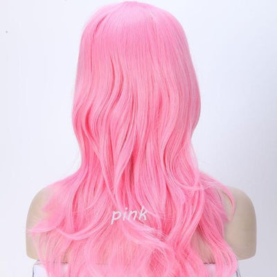 Loose Wavy Synthetic Cosplay Wig 56cm #JU2414-Pink-Juku Store