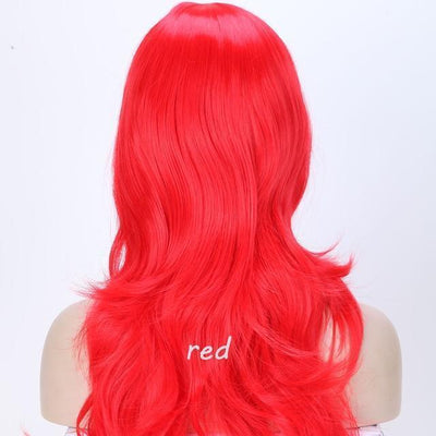 Loose Wavy Synthetic Cosplay Wig 56cm #JU2414-Red-Juku Store