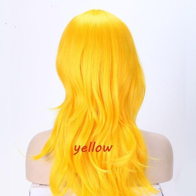 Loose Wavy Synthetic Cosplay Wig 56cm #JU2414-Yellow-Juku Store