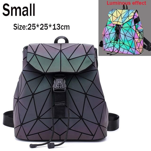 Luminous Geometric Drawstring Backpack Harajuku School Bags #JU2440-Juku Store