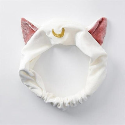 Luna Cat Ears Hair Band Sailor Moon Headband Accessory #JU2436-White-Juku Store
