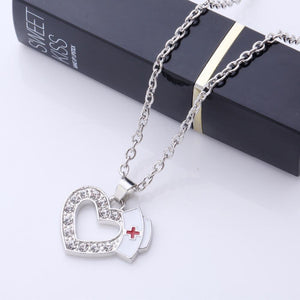 Menhera Yami Kawaii Medical Nurse Cap Love Heart Jewelry Necklace #JU2024-Juku Store