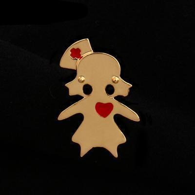 Menhera Yami Kawaii Medical Nurse Jewelry Pin Clip [2 Colors] #JU2025-Gold-Juku Store