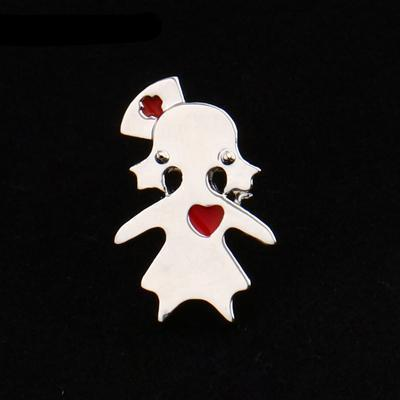 Menhera Yami Kawaii Medical Nurse Jewelry Pin Clip [2 Colors] #JU2025-Silver-Juku Store