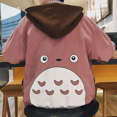 My Neighbor Totoro Anime Windbreaker Jacket Hoodie Unisex [3 Colors] #JU1970-Juku Store