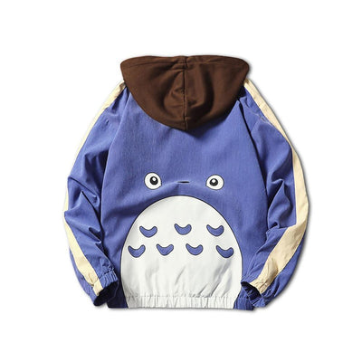 My Neighbor Totoro Anime Windbreaker Jacket Hoodie Unisex [3 Colors] #JU1970-Blue-XXL-Juku Store