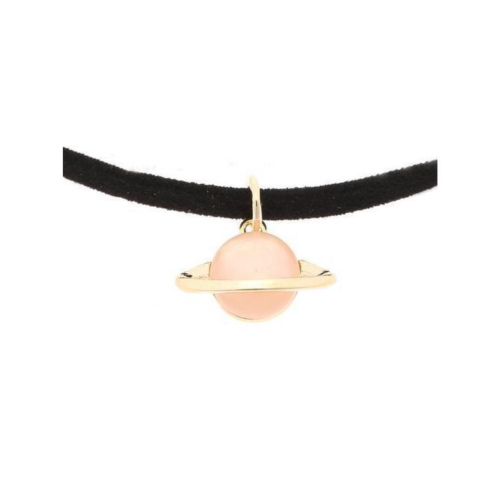 Mystical Pastel Saturn Choker [4 Styles] #JU1972-Orange-Juku Store