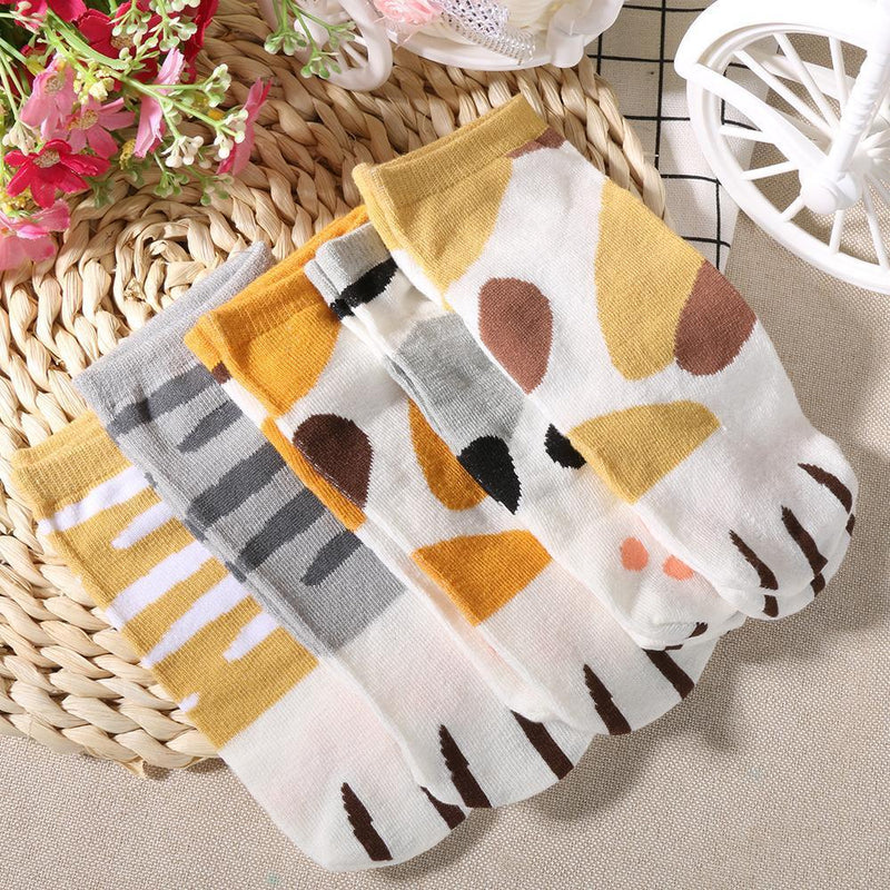 Neko Atsume Cute Cat Claw Short Ankle Socks [5 Styles] #JU1845-Juku Store