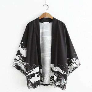 (NEW!) Japanese Sea Dragon Haori Kimono [2 Colors] #JU1909-Juku Store
